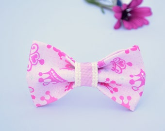 Collar bow 'Princess' (breakaway) / luxury cotton bow for cat collar, pink glitter spring handmade / CRAFTS4CATS