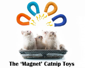 Magnet Catnip Toy / handmade catnip toy - felt cat toy filled with fresh catnip - kitten toys, gift for cat - Crafts4Cats