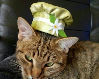 Fancy hats for cats with matching bow tie for cats - Velvet & Cotton Hats for Cats with bow tie, cute charm, cat bell