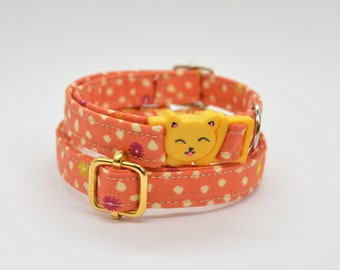 Breakaway cat collar / Breakaway kitten collar / Pumpkin charm & bell / Safety kitten collar / Autumn/Fall cat collar / Gifts for cats