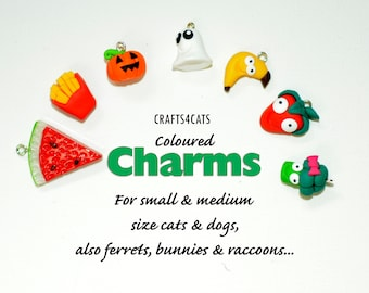 Charms - fruit and vegetables, Halloween charms for cat collars CRAFTS4CATS