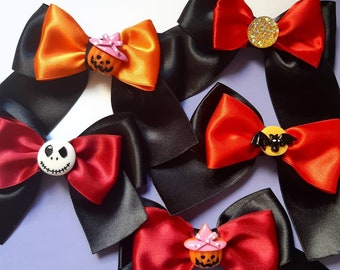 Halloween bows for cats / cat collar bow tie / luxury satin bow tie / breakaway collar / Halloween breakaway cat collar fancy / dog bow tie