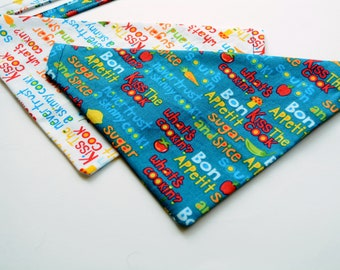 Cat bandanas 'What's cooking?' cute and funny bandana for pet, dog bandana, personalised custom cat bandana, Crafts4Cats