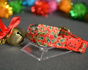 RED  cat collar - kitten collar | cat collar breakaway | kitten collar luxury cat collar with bell |  cat costume Gift