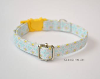 Cat collar, breakaway cat collar, collier pour chat, safety collar, breakaway / safety cat collar, cute cat collar,yellow cat collar