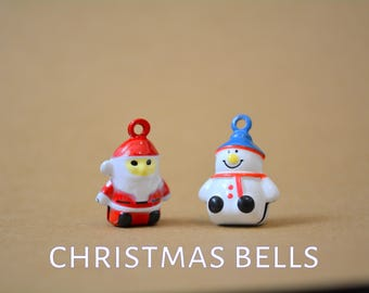 cat bells for cat collars - Snowman bell - Father  - Santa Claus -  bells for Crafts4Cats  collars