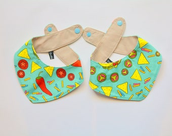 Bandana 'Tacos' for medium to large dogs /  dog bandana, cute dog bandana, pepers, tacos, fast food bandana