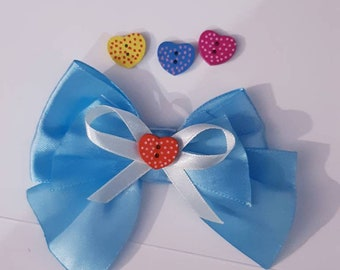 Cute bow tie for cat / Valentine bow / cat bow tie /Satin bow /blue satin cat bow tie - bow tie for cat collars