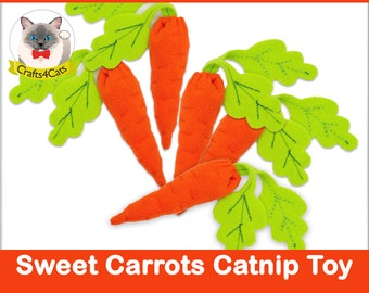 Felt catnip cat toy // Catnip Carrot // Unique catnip cat toy,cute cat toys,vegetable catnip toy,felt catnip toy,Crafts4cats