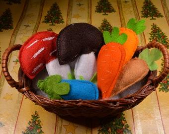 Catnip cat toys / Christmas stocking gifts/ catnip mushrooms, catnip trees, catnip apples, mini catnip carrots, catnip veggies