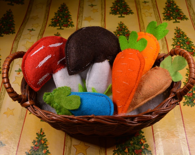 Featured listing image: Catnip cat toys / Christmas stocking gifts/ catnip mushrooms, catnip trees, catnip apples, mini catnip carrots, catnip veggies