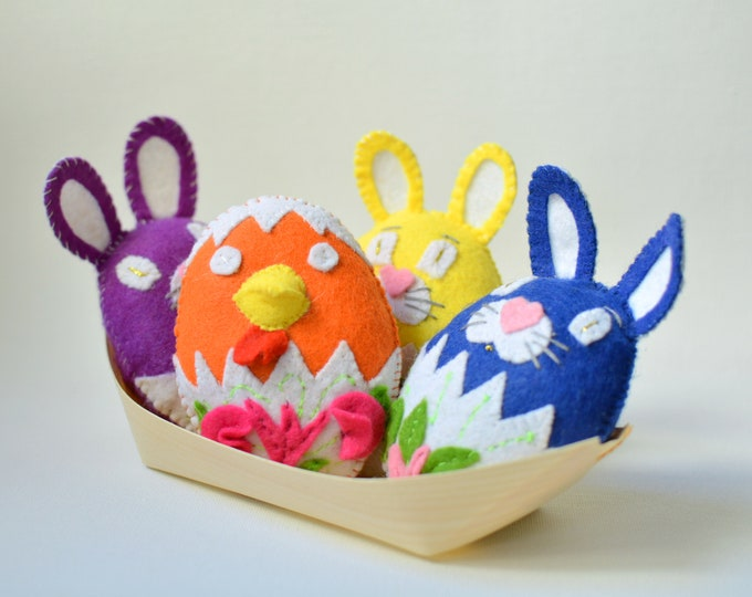 Featured listing image: Luxury cat toys - Easter catnip toys made from felt - Eggs, bunnies, chicks