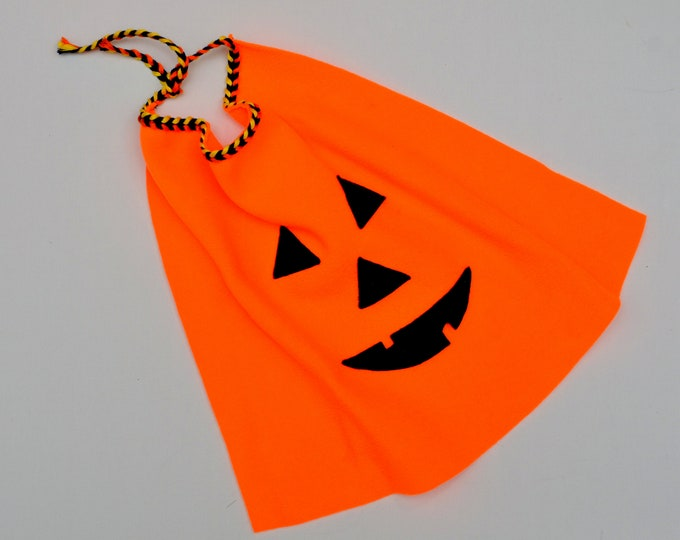 Featured listing image: Halloween costumes for cats // Orange pumpkin cape // dog cape, cat cape, pumpkin cape, handmade costume by Crafts4Cats