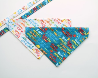 Bandana 'What's cooking?' // chef cook bandana, cat bandana, dog bandana, cute bandana for pet, Crafts4Cats