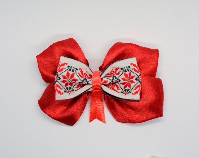 Featured listing image: Valentine bow tie in red or ivory-blue for cat or rabbit by Crafts4Cats