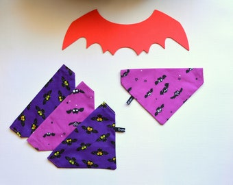 Halloween bandanas for pets / Purple bandana, pink bandana, cat bandana, dog bandana, custom cat  bandana,, Crafts4Cats