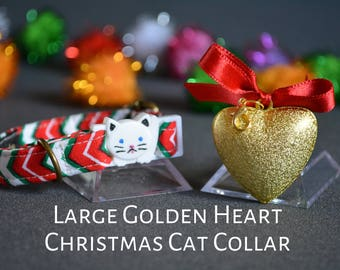 Cat collar breakaway - cat collar - kitten collar breakaway - cat collar with large bell