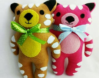 Teddy bear toys / cute cat toys / catnip toys / luxuty unique gift / Crafts4Cats