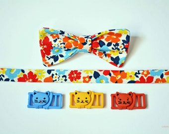 Cat collar / Colours of autumn/ fall cat collar, breakaway cat collar, kitten collar, Crafts4Cats