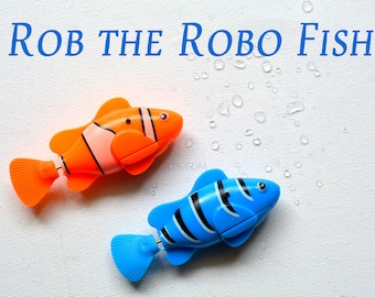 Rob the Robot Fish with Smart Senor /  Electric Pet Fish Toy / Fish toy for cats