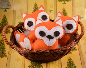 Mr Fox catnip toy for cats and kittens / orange fox - perfect small gift Christmas stocking for cats