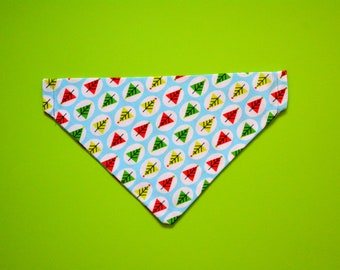 Cat bandana 'Winter Forest' for small cats / dog bandana, slip over collar bandana, Christmas kitten bandana, winter cat bandana