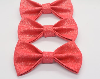 Glittery Red Bow / cat bow tie, small dog bow tie, Crafts4Cats