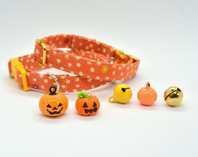 Featured listing image: Halloween breakaway/safety cat collar for cats, handmade cat collar