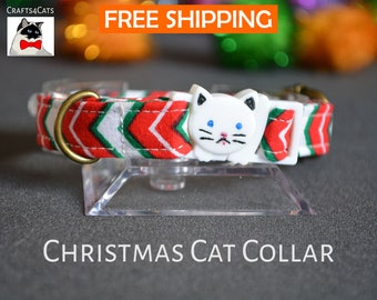 Cat collar breakaway - cat collar with bell - breakaway cat collar - luxury cat collar - collier pour chat