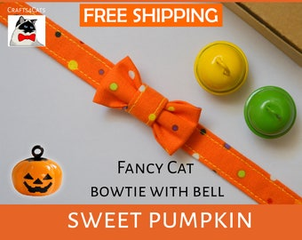 'Sweet Pumpkin' Halloween edition of collars kittens with breakaway buckle