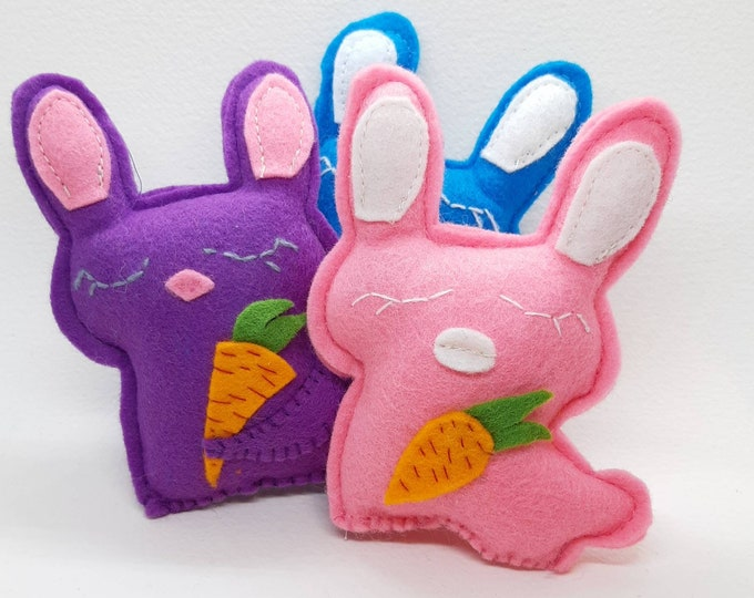 Featured listing image: Catnip cat toy - Bunnies felt catnip toy - Catnip rabbit toy for cats and kittens - Cute cat toys
