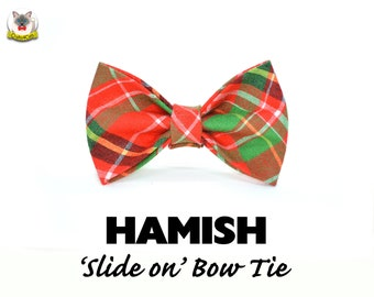 Bow tie 'Hamish' tartan cat bow tie// cat collar bow tie,cat collar with bow,christmas bow tie,plaid bow tie,pet bow tie,bow tie for cats