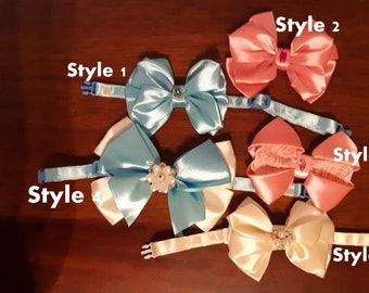 Satin bow ties for cats / Crafts4Cats
