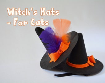 LAST ONE Witch's hat for cat - Halloween cat hat - Halloween costumes for cat - pet photography props - witches hat for dog