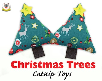 Toys 'Christmas Trees' // the best catnip toys you can buy //catnip cat toy,kitten toys, Christmas gift for cat, Crafts4cats