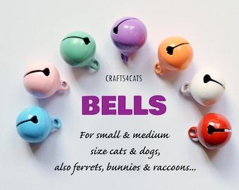 Single colour cat collar bells (small) / soft jingle ring tone collar bells / solid color bells for cat collars, dog collar / Christmas bell