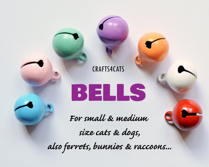 Bells for cat & dog collars / Small soft ring tone solid image 0
