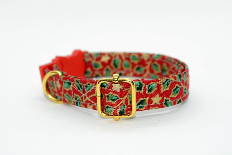 Safety Cat Breakaway Collars with Fish Charm Pendant for Kitten Flower Print