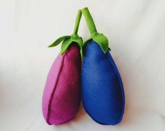 Aubergine Eggplant - handmade catnip toy - felt cat toy filled with fresh catnip - kitten toys, gift for cat - Crafts4Cats
