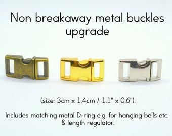 Upgrade: Non breakaway buckle (metal), silver, gold, bronze