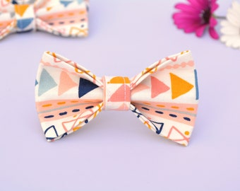 Cat collar with bow 'Luna White', organic cotton cat collar, kitten collar, cat collar with bell, bow tie for cat