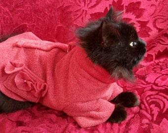 cat pajamas, gift for cat,  pajamas pink cat, cat costume, cute cat