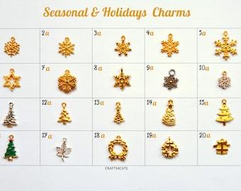 Cat collar charms / dog collar charms / Christmas charms, charms for pet collars, kitten collars, dog collars charms