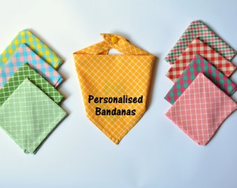 Cat / dog bandana with custom text, easy fit cat bandana, funny gifts for pets