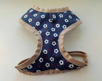 Harness for cat or dog/ spring walking jacket / floralute walking costume for pet /