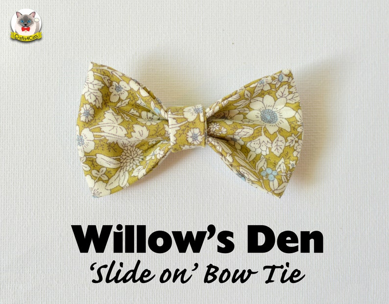 Cat Bow Tie 'Willow's Den' / floral bow tie for image 0