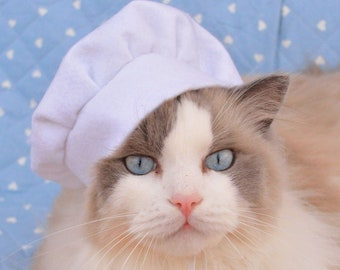 Chef Cook Hat for cats and dog / hats for dogs / hats for cats / cute hats / pet costume