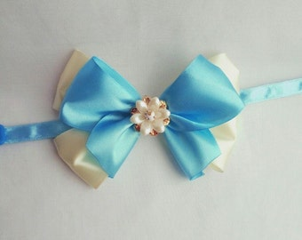 Fancy cat bow ties - Satin bows for cat non-breakaway buckle - Cute pet bows