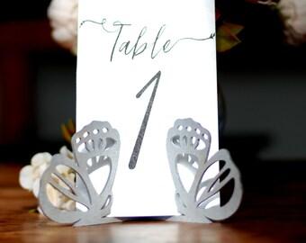Tabelle Anzahl Halter Fur Hochzeit Menukarten Halter Etsy