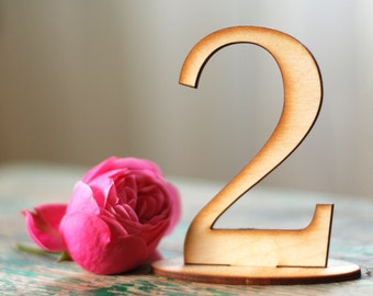 Wedding table numbers, Wood table numbers, Stand alone table numbers, Wooden table numbers, DIY table numbers, Lasercut table numbers, TN-11
